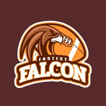 Football Team Logo Maker with a Falcon Graphic 245vv-2937