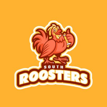 Logo Generator for Sports Team with a Happy Rooster Graphic 245xx-2937