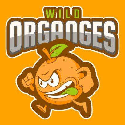 Sports Logo Creator Featuring an Orange Mascot a484p-2930
