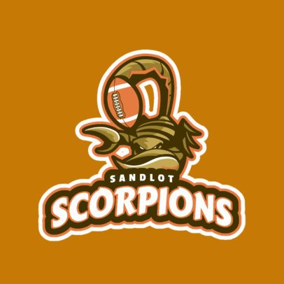 Logo Maker for a Rugby Team Featuring an Aggressive Scorpion 1616s-2936