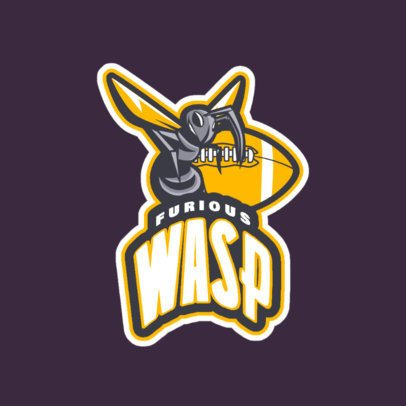 Football Logo Generator with a Furious Wasp Illustration a245qq-2935
