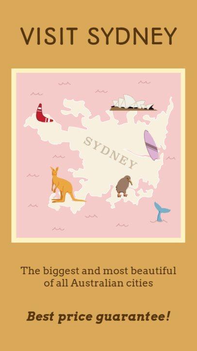 Instagram Story Maker Inviting to Visit Sydney 2233a