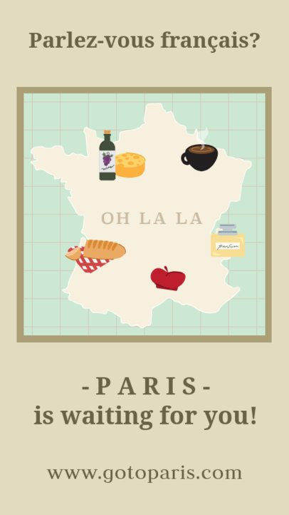 French Tourism Instagram Story Template 2233e