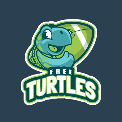 Football Logo Maker with a Friendly Turtle Mascot 245aa-2937
