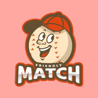 Baseball Logo Creator with a Cartoonish Mascot 172qq-2926