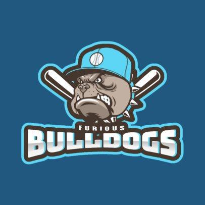 Baseball Logo Maker with a Furious Bulldog Mascot 172tt-2937