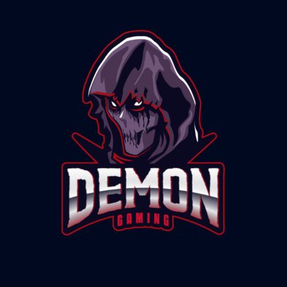 Gaming Logo Template with a Hooded Demon Illustration 2786ee-2927