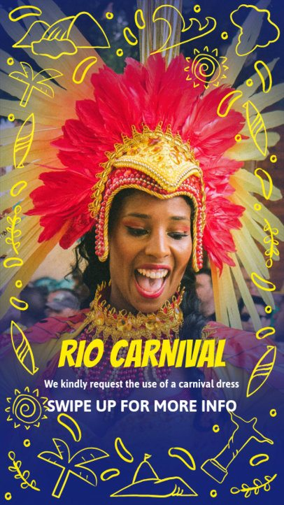 Instagram Story Template for a Rio Carnival Party 2236
