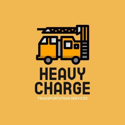Transportation Company Logo Maker Featuring a Truck Crane Clipart 755a-el1