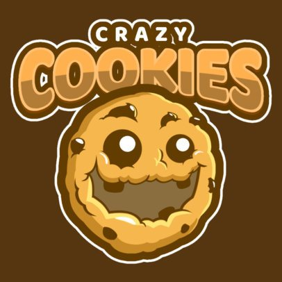 Logo Maker for a Sports Team with a Happy Cookie Graphic a484s-2936