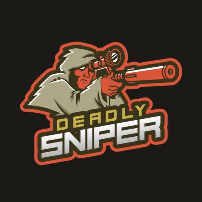 Logo Template for Gamers With a Sniper Illustration 1743w-2928