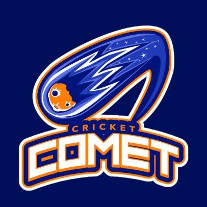 Sports Logo Generator Featuring a Comet Clipart 1651l-2928