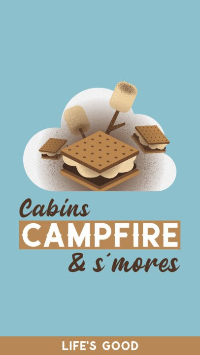 Instagram Story Maker Featuring an S'Mores' Illustration 2241c