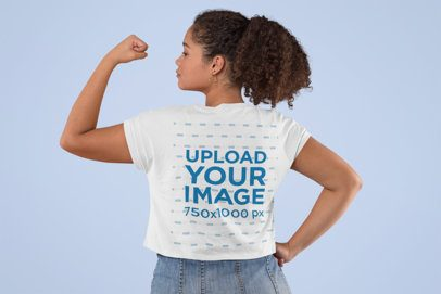 Crop Top Mockup of a Woman Raising Her Arm with Clenched Fist 31980