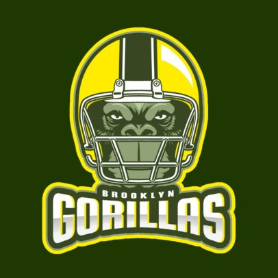 Cool Logo Maker with a Helmet Graphic for a Football Team 1748x-2932