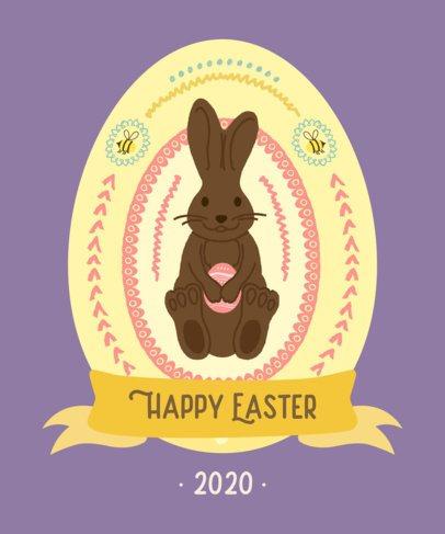 T-Shirt Design Maker Featuring Easter Egg Illustrations 2223