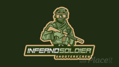 Cool Animated Logo Creator for a Shooting Gaming Squad 2754x-2927