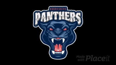 Animated Sports Logo Maker With a Roaring Panther Graphic 120ll-2927