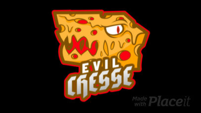 Animated Gaming Logo Maker Featuring an Evil Cheese Graphic 2407c-2932