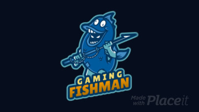 Fortnite-Inspired Animated Gaming Logo Maker Featuring a Man Dressed as a Fish 2407d-2927