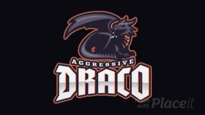 Animated Gaming Logo Maker Featuring an Aggressive Dark Dragon 2689o-2927