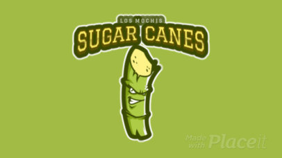 Animated Sports Logo Maker Featuring a Sugarcane Clipart a484o-2930