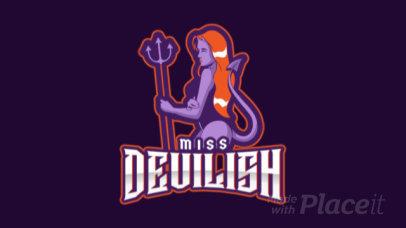 Logo Creator Featuring an Animated Female Demon 1877o-2929