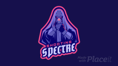Animated Gaming Logo Creator Featuring a Shooting Ghost 1743z-2929