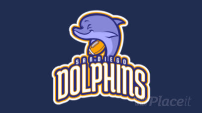 Animated Sports Logo Maker with a Dolphin Graphic for a Football Team 245uu-2932