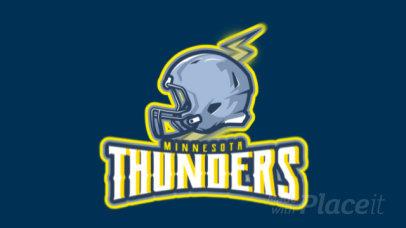 Animated Football Logo Creator with a Helmet Clipart 1748w-2932