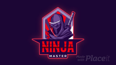Animated Gaming Logo Template with a Ninja Character 2718o-2931