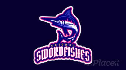 Animated Cricket Logo Template with a Sailfish Icon 1651o-2926