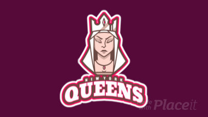 Animated Logo Template with a Queen Clipart 29ee-2931