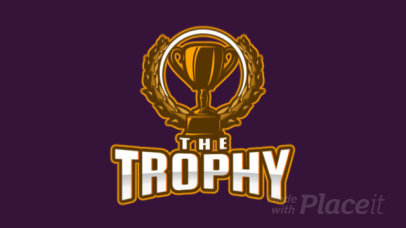 Animated Gaming Logo Creator Featuring a Trophy Graphic 1750ff-2931