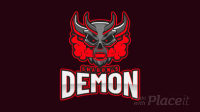 Animated Gaming Logo Maker Featuring a Devilish Demon 1877t-2931