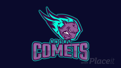 Animated Logo Creator with an Illustrated Comet Mascot 1750hh-2931