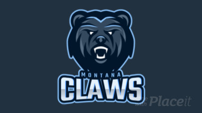 Animated Sports Logo Generator With a Roaring Bear Graphic 1560m-2934