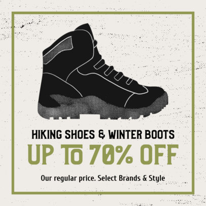 Facebook Post Generator Featuring a Hiking Boot Graphic 2243b