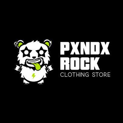 Rock Clothes Logo Creator with a Crazy Panda Illustration 252e-el1