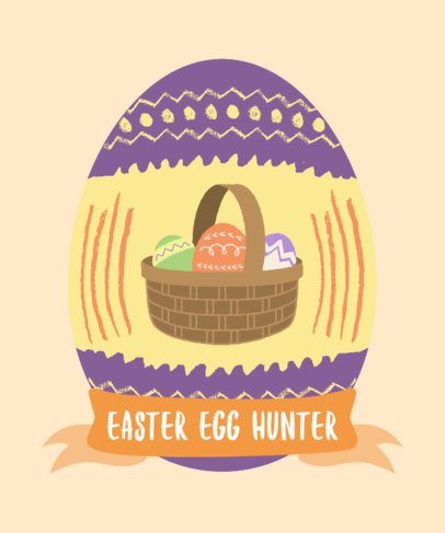 T-Shirt Design Maker Featuring a Basket of Easter Eggs 2223c