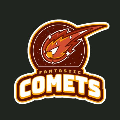 Cricket Team Logo Template Featuring a Shooting Comet Graphic 1651p-2936