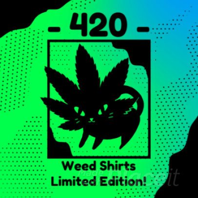 Instagram Video Maker for a Marijuana T-Shirt Promo 967