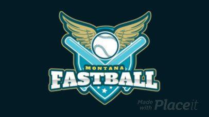 Sports Logo Featuring an Animated Winged Baseball Ball 172ww-2936