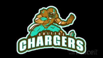 Animated Sports Logo Maker Featuring a Running Football Player Graphic a245ww-2936