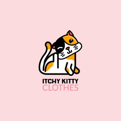 Streetwear Logo Creator with the Illustration of a Scratching Cat 264g-el1