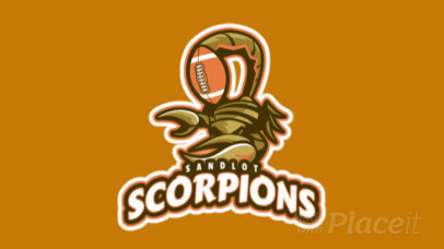 Logo Maker for a Rugby Team Featuring an Animated Aggressive Scorpion 1616s-2936