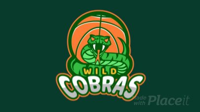 Sports Logo Maker for a Basketball Team with an Animated Cobra Graphic a336x-2936