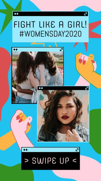 Instagram Story Maker for Women's Day with a Two-Pictures Layout 2261h