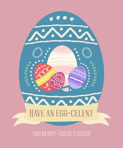 T-Shirt Design Maker with an Illustrated Easter Egg 2223e