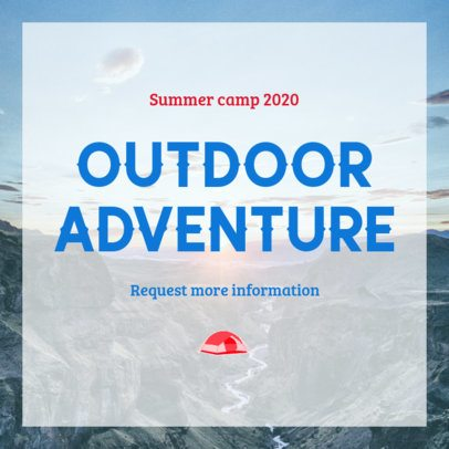 Instagram Post Maker for an Outdoor Summer Camp 2240c